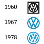 De logo's van Volkswagen