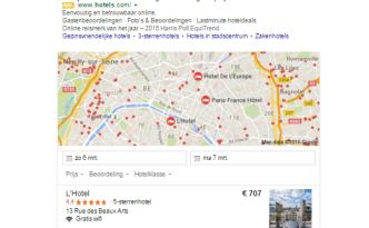 google parijs hotel