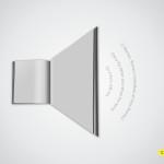 Lees en hoor een boek. Advertentie voor luisterboeken