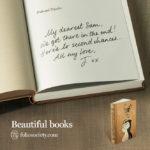 Persoonlijke boodschap in mooi boek