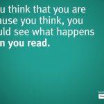 Ben je omdat je denkt? Ga eens lezen.