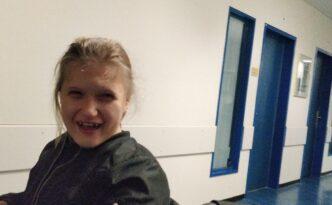 Anna Sophie in het AMC controle van haar hartklep