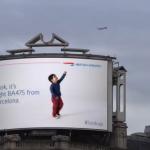 Interactief reclamebord van British Airways