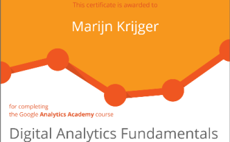 Diploma behaald Digital Analytics Fundamentals