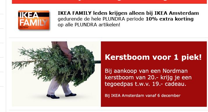 IKEA Amsterdam kerstboomactie 2012