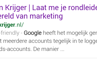 Marijn Krijger is mobile-friendly op Google
