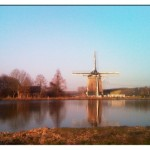 Weekly photo challenge – Reflections – Dutch: windmill and boat