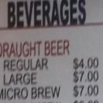 De prijs van bier