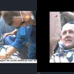 1-7-2012 André Kuipers keert terug uit ISS, in screenshots (NOS en NASA)