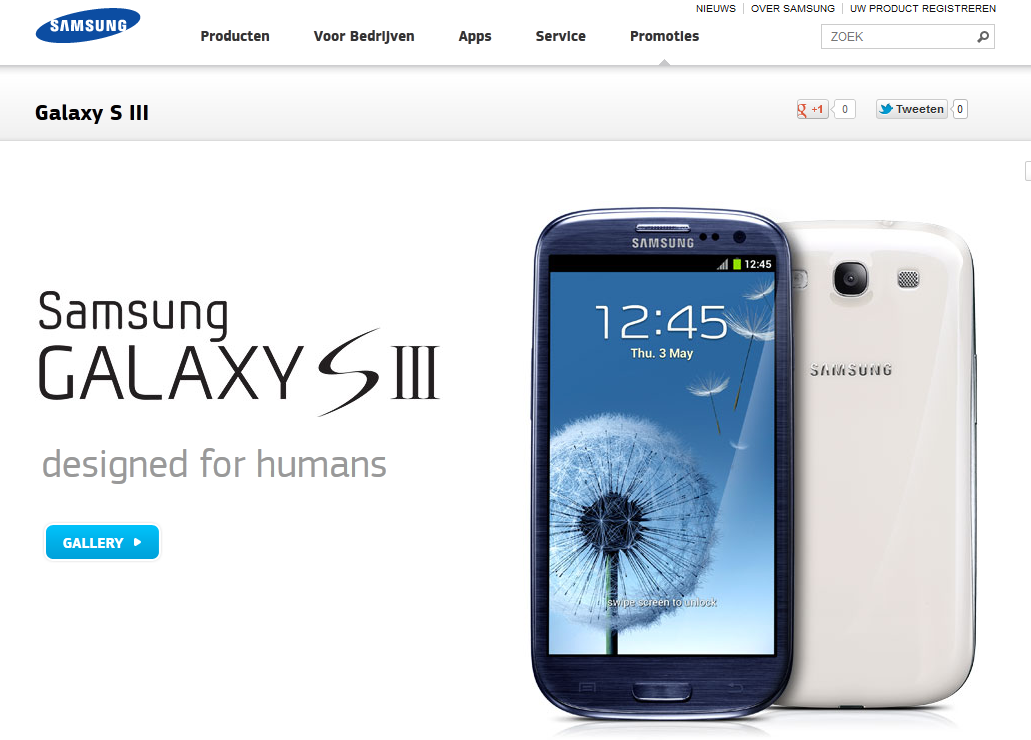 Samsung Galaxy S III, designed for humans