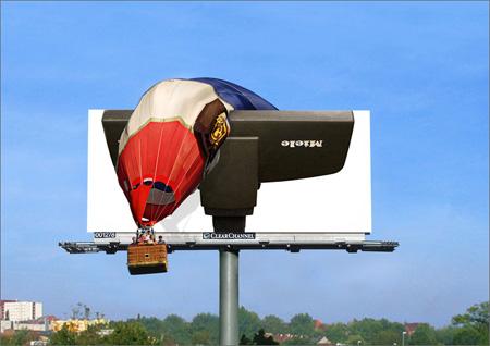 De Miele-stofzuiger vangt een luchtballon