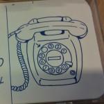 Een telefoon met draaischijf, gezien door de ogen van een vierjarige.