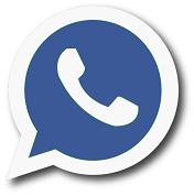 whatsapplogo facebookblauw klein