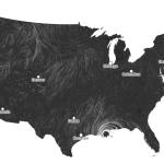 Mooie visualisatie van de wind in de VS