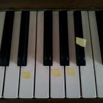 De kinderblues, jammen op de piano