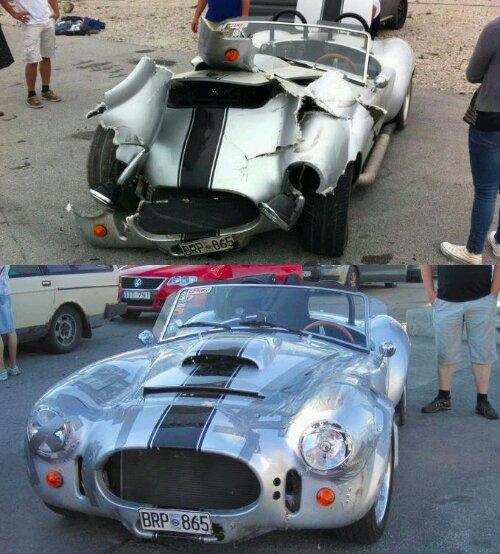 Auto gerepareerd met ducttape