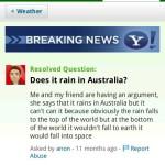 Vraagje: Regent het in Australië?